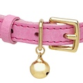 Leather Pink Cat Collar 2