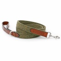 Forest Green Tweed & Tan Leather Lead  2
