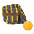 Knitted Dog Scarf – Charcoal & Lemon 2