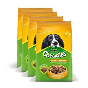 Chewdles Complete Chicken Dog Food x 4