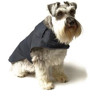 Navy Waxed Waterproof Dog Coat