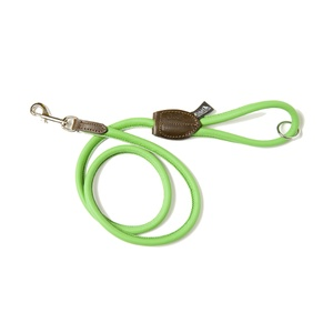 D&H Rolled Leather Lead - Green