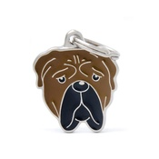 My Family - Bullmastiff Engraved ID Tag