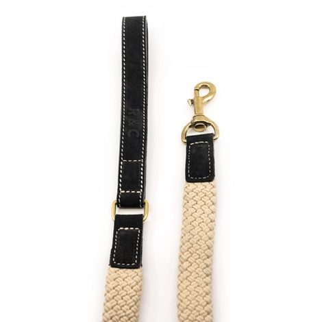 Rope lead (flat) - Black 3