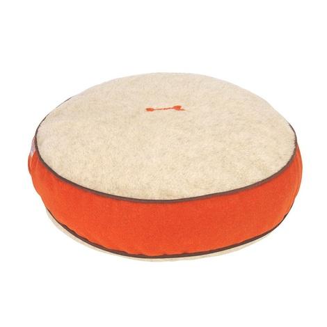 Edison Orange Harris Tweed Dog Bed 2