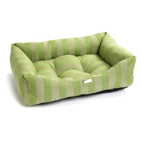 Green Stripe Dog Bed