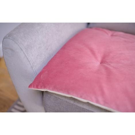 Lustre Velvet Sofa Topper - Blush 2