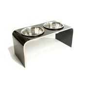 Lola and Daisy - Black Raised Dog Bowl Holder