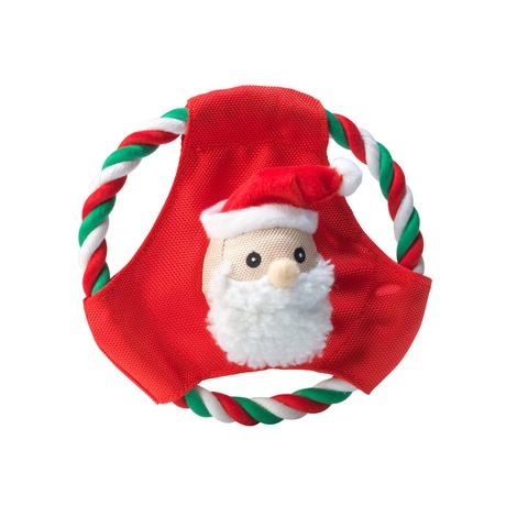 Santa Frisbee Dog Toy