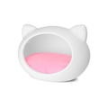 White Cat Cave with Pink Cushion 3