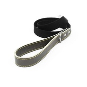 The Leather Dog Co - Black Cotton Webbing Dog Lead