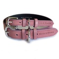 Heather Leather Dog Collar - Pastel Pink