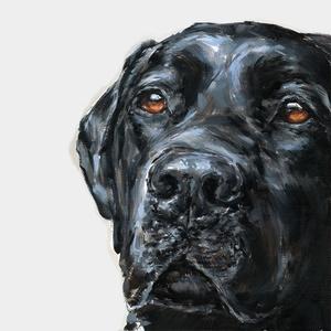 Black Labrador Blues Art Print