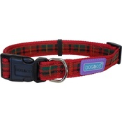 Hem & Boo - Tartan Adjustable Dog Collar - Red