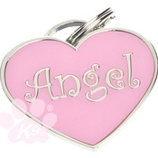 K9 - Heart shaped Angel ID tag