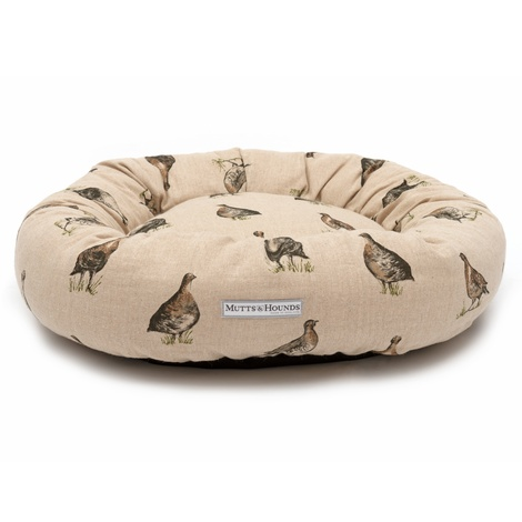 Grouse Linen Donut Bed 3