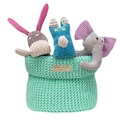 Bowl&Bone Cotton Basket Mint
