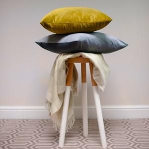 Velvet Scatter Cushion - Turmeric