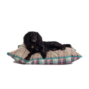 The Lounging Hound - Luxury Pure Wool Dog Bed - Fawn Multispot
