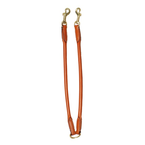 Rolled Leather Dog Coupler – London Tan