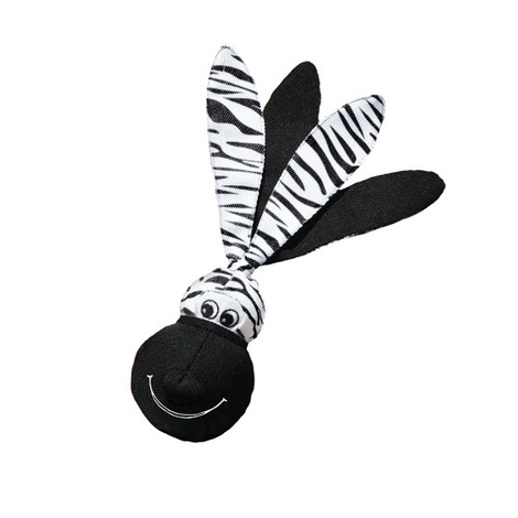 KONG Wubba Floppy Ears Dog Toy - Zebra