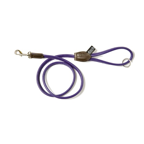 D&H Rolled Leather Lead - Purple