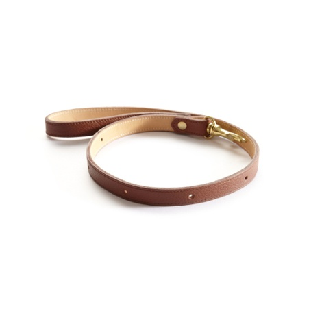 Woof Leather Dog Lead - Brown 2