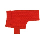 Ruby Rufus - Cable Knit Cashmere Dog Sweater - Lipstick