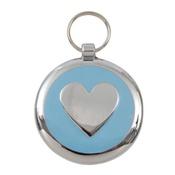 Tagiffany - Smarties Light Blue Heart Pet ID Tag