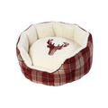 Rustic Tweed Oval Dog Bed