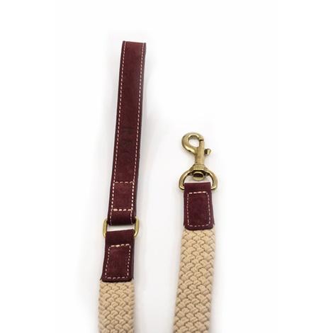 Rope lead (flat) - Burgundy 2