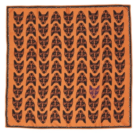 Fox Print Scarf in Orange 2
