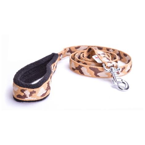 Fleece Comfort Dog Lead – Safari Camo 2
