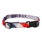Creature Clothes - Stripey Red/White/Blue Cat Collar