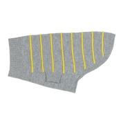 Ruby Rufus - Raised Stripe Cashmere Dog Sweater - Dove & Pineapple