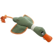 House of Paws - DUCK! CANVAS THROWER DOG TOY - KHAKI