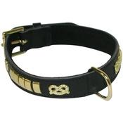 Hem & Boo - Bull Terrier Leather Collar - Black
