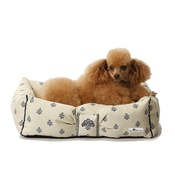 Katalin zu Windischgraetz - Cantatis Dog Bed - Ivory & Inky Blue