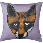 Lisa Bliss - Fox Print Cushion in Mauve