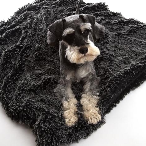 Shaggy Pet Blanket - Black 2