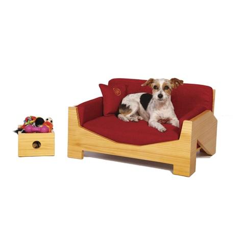 Retro Pine Dog Sofa