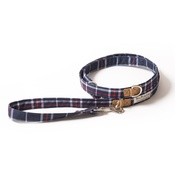 PetsPyjamas - Pawditch Blue Check Dog Lead