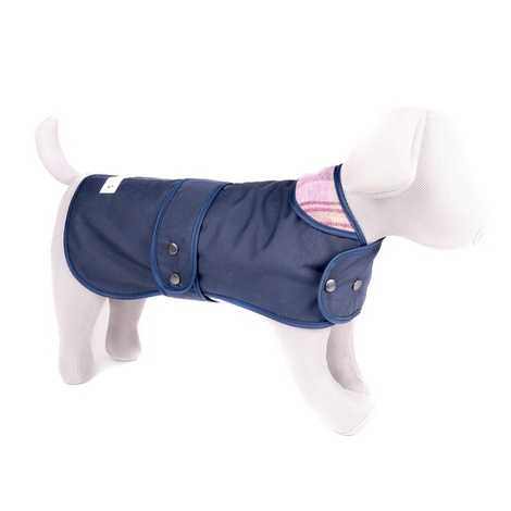 Pink Shetland Wool Waxed Dog Coat 3