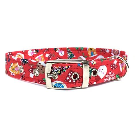 Jolly Christmas Buckle Dog Collar