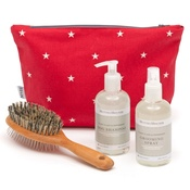 Mutts & Hounds - Cranberry Star Cotton Wash Bag