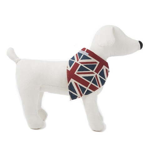 Union Jack Linen Dog Neckerchief 3