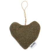 Mutts & Hounds - Forest Green Tweed Lavender heart