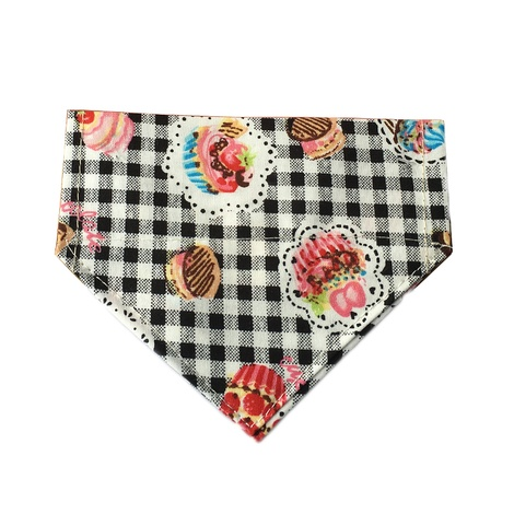 Black Pups Picnic Dog Bandana