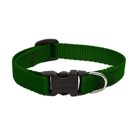 "1"" Width Green Lupine Dog Collar"