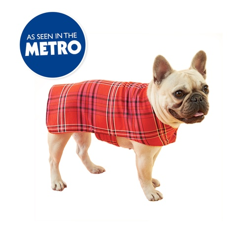 Henry Holland Red Tartan Dog Coat